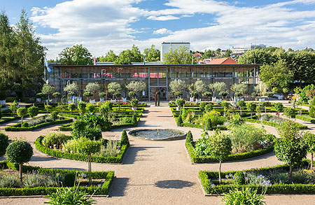 Picture: Ansbach Court Garden with a view of the Citrus House