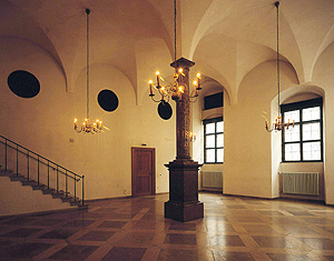 Picture: Hall with a single column