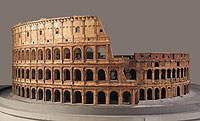 Picture: Cork architectural model of the Colosseum