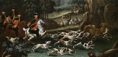 The courtly coursing, painting by Kleemann brothers