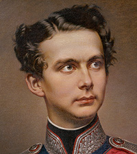"Picture: Painting ""King Ludwig II in officer's uniform"""
