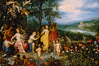 "Painting ""Der Frühling"" (""The Spring""), Jan Brueghel the Elder and Hendrik van Balen"