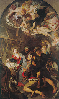 "Painting ""Die Anbetung der Hirten"" (""Adoration of the Shepherds"")"