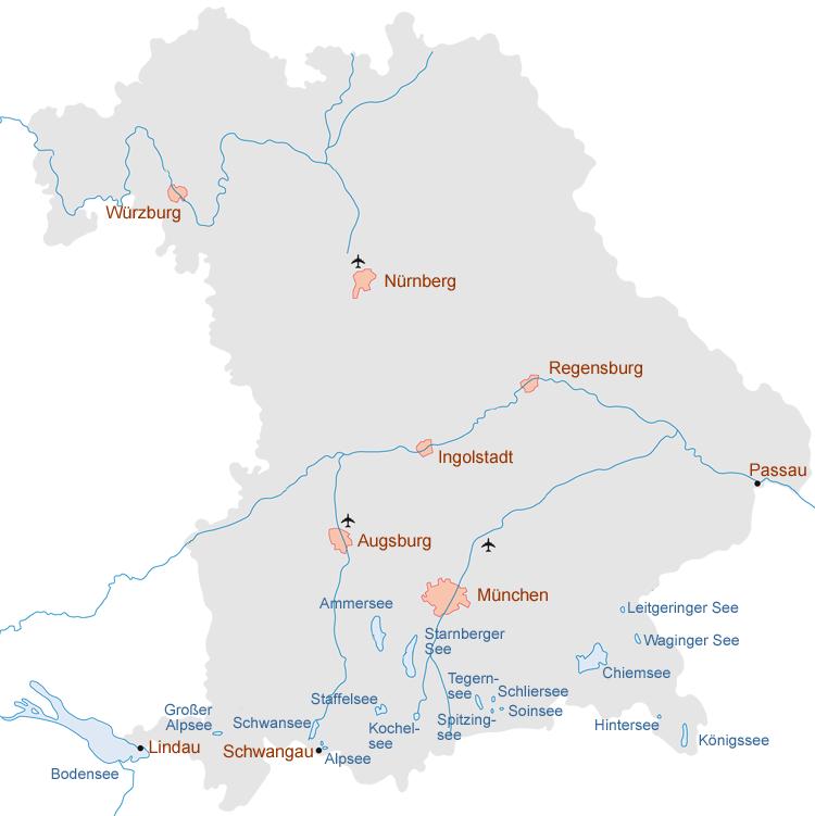 Bayerische Flüsse