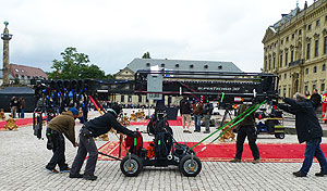 Picture: Film shooting in front of the Würzburg Residence