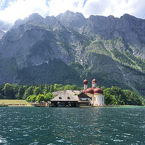 Picture: S. Bartholomew's Church on the Königssee