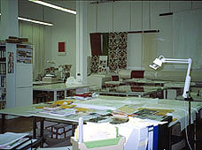 Picture: Workshop of the textile restoration